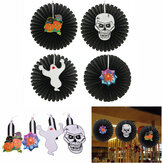 Halloween Papier Fan Wand hängende Dekoration Party Home Decor Geschenke Gespenst Kürbis