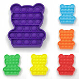 1pc Bubble Sensory Decompression Toy Bear Shape Fidget Relieve Stress Soft Squeeze Funny Education Puzzle Gifts for Adults Kids