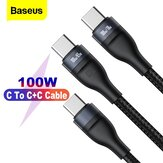 Baseus One for Two 100W USB-C to USB-C PD Cable BPS PD QC Fast Charging Data Transmission Cord Line For Samsung Galaxy Note 20 Ultra S20 For iPad Pro 2020 MacBook Air 2020 For Nintendo Switch Huawei P40 Xiaomi Mi 10 Pro