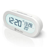 DIGOO DG-AN0471 Thermometer Display Digital Alarm Clock  with Snooze Function