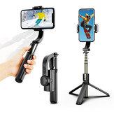 L08 3-em-1 estabilizador de cardan selfie Varanda tripé sem fio liga de alumínio selfie dobrável para vlog smartphone