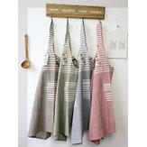 Японская хлопковая полосатая кухонная утварь фартуки Платье