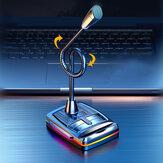 Bakeey W33 Mikrofon Bilgisayar Masaüstü 360 ° Serbestçe Ayarlayın Mikrofon Oyun Canlı Kayıt Kablolu USB ile Colorful Hafif Metal Soft Hortum PC Dizüstü Bilgisayar İçin Mükemmel Ses