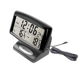 Portable 2 in 1 Car Auto Thermometer Clock Calendar LCD Display Screen with LCD digital display