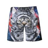 S5266 Beach Shorts Board Shorts 3D Astronaut Space Cat Printing Asciugatura rapida Elasticità