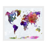 50x35 cm Retro World Map Canvas Pittura Stampa Wall Paper Picture Home Decor senza cornice