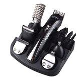 Kemei KM-600 6 in 1 Elektrischer Haarschneider Rasiermaschine Bartschneider Geschnittener Haarschneider Ohrnasen- und Gesichtsreinigungswerkzeuge