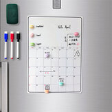 Time Planner Whiteboard Magnetic Erasable Monthly Weekly Planner Time Schedule Calendar Home Office Supplies