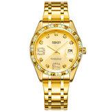 OUBAOER6093LBクリスタルカジュアルスタイルの女性の腕時計