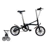 14-calowy składany rower Aluminiowy lekki składany mini rower Podwójne hamulce tarczowe Studenci Miejski rower podmiejski