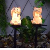 Énergie solaire LED chat pelouse lumière extérieure étanche jardin cour paysage lampe décorations de Noël lumières