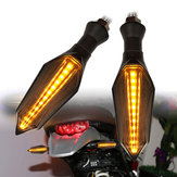 2pcs Motorcycle LED Turn Signal Amber Lamp Sequential Flowing Indicator Lights