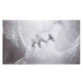 1 Stück Liebe Kuss abstrakte Leinwand Malerei Wand dekorative Druckkunst Bilder rahmenlose Wandbehang Dekorationen für Home Office