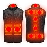 Chaquetas térmicas unisex de 3 engranajes Ropa térmica eléctrica USB 9 lugares Calefacción Chaleco cálido de invierno al aire libre Ropa de abrigo térmico