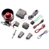 Universal Central Locking Kit & Car Alarm System with Immobiliser Shock Sensor