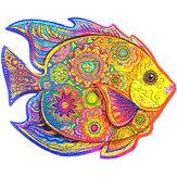 A3 / A4/A45 Ahşap Balık Bilmecenin Benzersiz Hayvan Şekli Oyuncak Gizemli Erken Eğitim Çocuk Çocuk Yetişkinler Çocuklar İçin Hediye