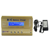 HTRC B6 V2 80W 6A Digital Battery Balance Charger Pelepasan Dengan Power Supply