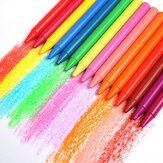 24 Colors Round Plastic Crayon Children Drawing Crayon Non-Toxic Oil Pastels Art Supplies Gifts for Childrens