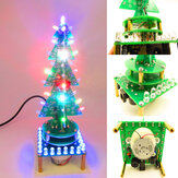 Geekcreit® DIY Rotating Colorful Music Christmas Tree LED Flashing Light Kit Electronic DIY Production Parts