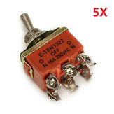 Wendao KN-1322 ON / OFF / ON AC 250V 15A 6 Pins Toggle Rocker Switch 5pcs