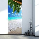 3D Strandtür Aufkleber Kühlschrank Aufkleber Wandhauptdekorationen