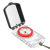 Berufs-Taschen-Militärkompass-kompakte Grundplatte-Taschen-Wandern-Ziel-gehendes LED Licht