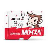 Mixza Year of Monkey Edición limitada 8GB U1 TF Micro Tarjeta de memoria para TV digital Cámara MP3 Caja Smartphone
