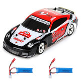 Wltoys K969 1/28 2.4G 4WD Brushed RC Car Drift Car Two Batterij
