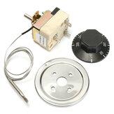 DANIUサーモスタットAC 250V 16A 50-300度温度コントローラ電気オーブン用NCなし