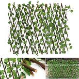 Sztuczny bluszcz Rozciągliwy rozciągliwy ogrodzenie prywatności Faux jednostronnie liściasty ekran winorośli do ogrodu na zewnątrz