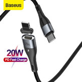 Baseus 20W Zinco Magnético USB-C para Lightning PD Cabo Power Delivery Fast Charging Data Sync Cord Line Nylon Trançado para iPhone 12 12 Mini 12 Pro Max para iPhone 11 11 Pro para iPad 2020