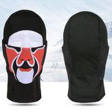 Unisex zimowa wiatroszczelna czarna maska czapka czapka sportowa ciepła czapka