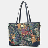 Women Bear Pattern Large Capacity Handbag Crossbody Bag
