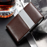 IPRee® PU Leather Card Holder Double Open Credit Card Case ID Card Storage Box Business Travel