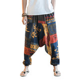 Men's Casual Ethnic Style Printed Cotton Haren Pants