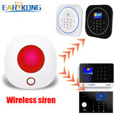 Original              EARYKONG 433MHz Wireless Wifi Strobe Siren Sound and Light Siren For Alarm System Work With Tuya APP Alexa Google Home