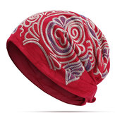Women Ethnic Vintage Embroidery Flowers Bandanas Hat