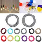 3M 2 Koord Kleur Vintage Twist Gevlochten Stof Licht Kabel Elektrische Wire