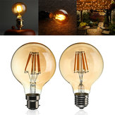 B22 / e27 dimmable g80 LED 6w vintage globe cage edison filament ampoule lampe ac220v