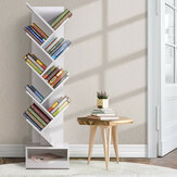 Tree-Shape Bookshelf Multi-Layer Wooden Storage Rack Standing Shelf Household Bookcase Simple Children's Room Decor