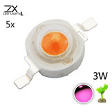 5pcs ZX 3W Full Spectrum Plant Growing DIY LED Lamp Chip Garden Greenhouse Seedling Lights