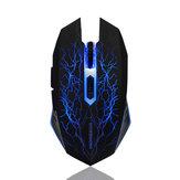 1600 DPI 2.4 GHz Sem Fio Mudo Silencioso Recarregável Gaming Mouse Sem Fio Jogo de Carregamento para PC Laptop Office