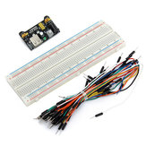 65PCS Jumper Cable+ MB102 Power Supply Module 3.3V 5V+Breadboard Board 830 Point
