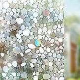 90 x 100 cm Anti-UV Privacy Statische Cling Cover Stained Frosted 3D Window Glass Film Sticker Home Decor