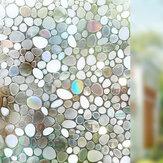 90 x 100cm Anti-UV Gizlilik Statik Sarılmak Kapak Lekeli Buzlu 3D Pencere Camı Filmi Sticker Ev Dekorasyonu