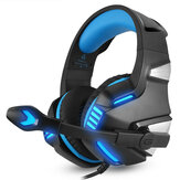 Hunterspider V3 3.5mm Cableado LED Gaming Auriculares con cancelación de ruido con micrófono para laptop PS4 Xbox One