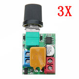 3pcs DC 5V To 35V 5A Mini Motor PWM Speed Controller Ultra Small LED Dimmer Speed Switch Governor