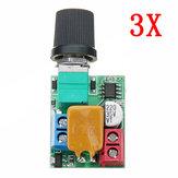 3 adet DC 5V Için 35V 5A Mini Motor PWM Hız Kontrol Ultra Küçük LED Dimmer Hız Anahtarı Vali