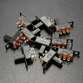 10pcs preto tamanho mini SPDT slide switches 100v on-off 2a material de bricolage