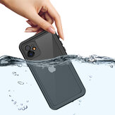 Bakeey Outdoor Swimming Surfing IP68 Waterproof Shockproof Full Body Cover Transparent Protective Case for iPhone 11 6.1 inch